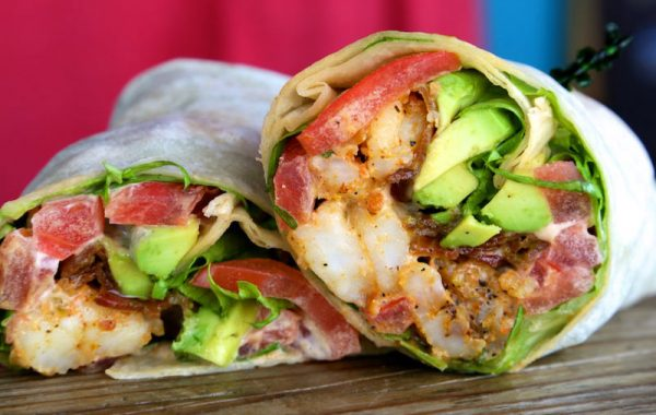 Blackened Shrimp Club Wrap – $11.95